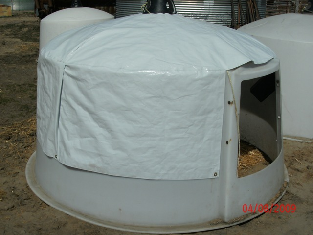 Calf Hutch Dome Cover Genesis Enterprises